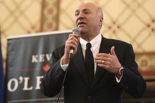 Kevin O'Leary a prononcé une allocution à l'Université... (La Presse Canadienne, Lars Hagberg)