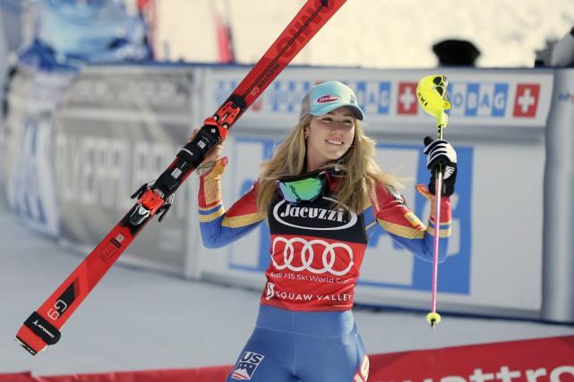 Mikaela Shiffrin... (Photo Erich Schlegel, archives USA TODAY Sports)