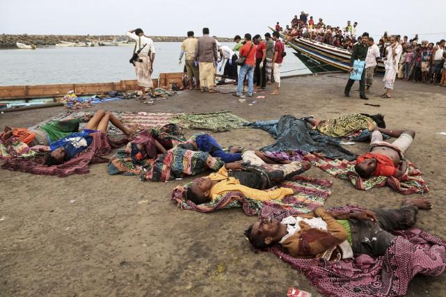 Vendredi, des Somaliens tentant de se rendre présumément... (AFP, Stringer)