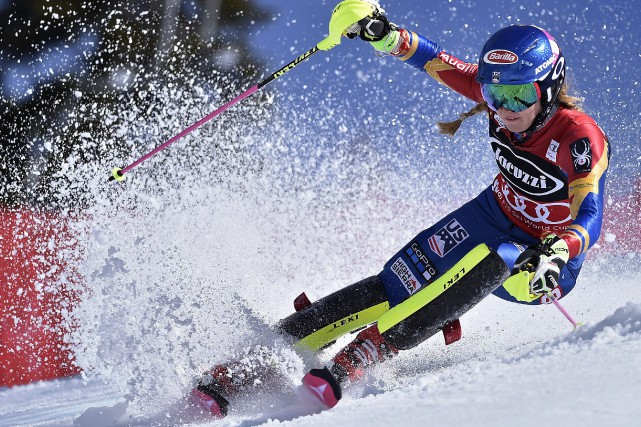 Mikaela Shiffrin... (Photo Scott Sady, AP)