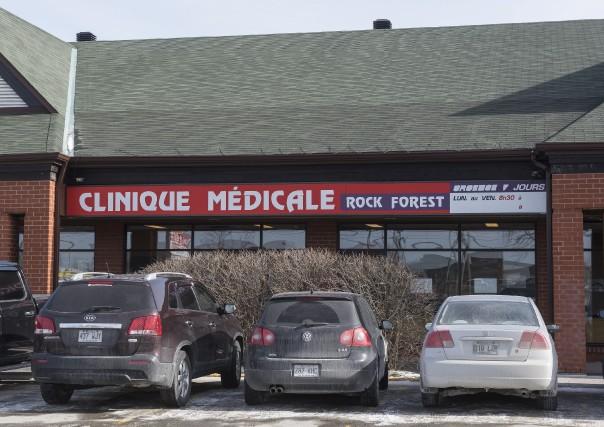 Les médecins de la Clinique médicale Rock Forest... (Spectre Média, Frédéric Côté)