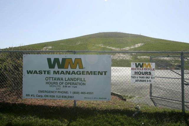 Le dépotoir de Waste Management... (Patrick Woodbury, Le Droit)