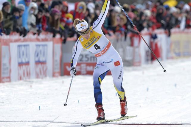 Stina Nilsson a devancé sa grande rivale norvégienne,... (Le Soleil, Yan Doublet)