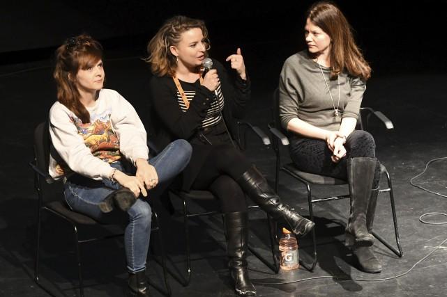 Les actrices et réalisatrices Alexa-Jeanne Dubé, Mara Joly... (Photo Le Quotidien, Michel Tremblay)