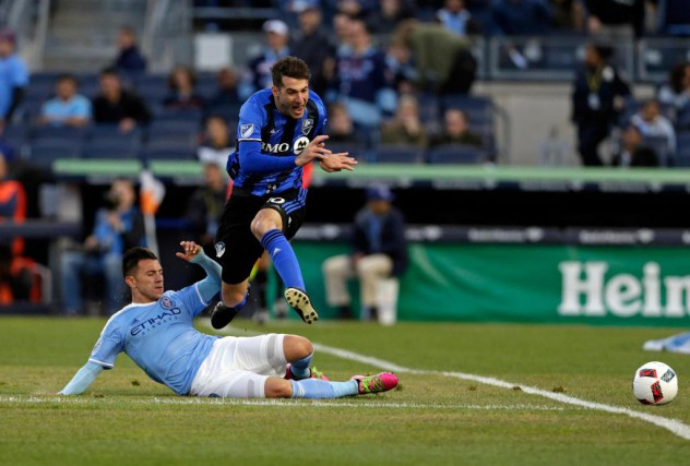 Les matchs opposant l'Impact au New York City... (Photo Adam Hunger, archives USA TODAY Sports)