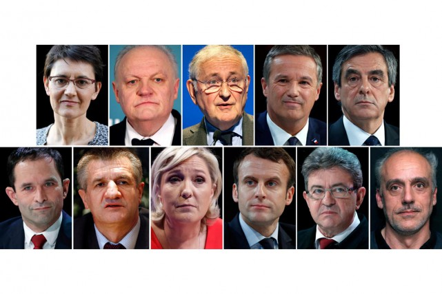 Sur la photo, les candidats de gauche à... (Photomontage Reuters)