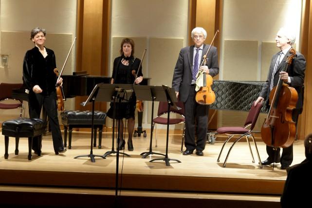 Le Quatuor Saguenay sortira un premier album sous... (Archives Le Progrès-Dimanche, Jeannot Levesque)