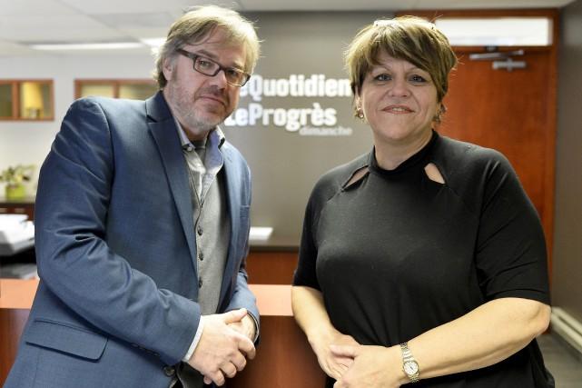 Jocelyn Robert et Pauline Lapointe assument la présidence... (Le Progrès-Dimanche, Jeannot Lévesque)
