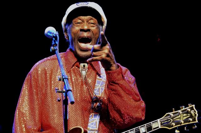 Chuck Berry suivait son propre rythme et son dernier album, en préparation... (PHOTO ARCHIVES AFP)