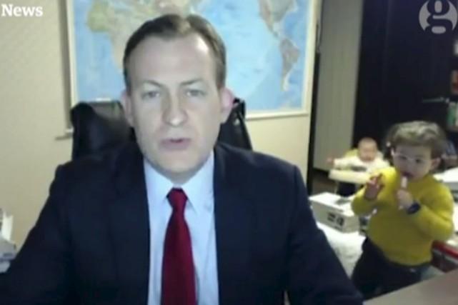 Les joies du direct (tirée d'une vidéo de la BBC)