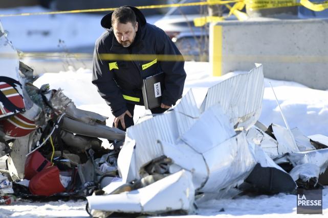 Un des deux pilotes impliqués dans la collision... (PHOTO BERNARD BRAULT, LA PRESSE)