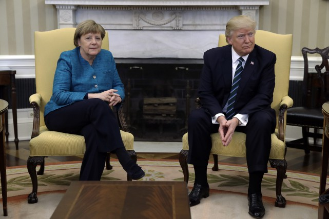 Angela Merkel et Donald Trump... (Photo Evan Vucci, archives Associated Press)