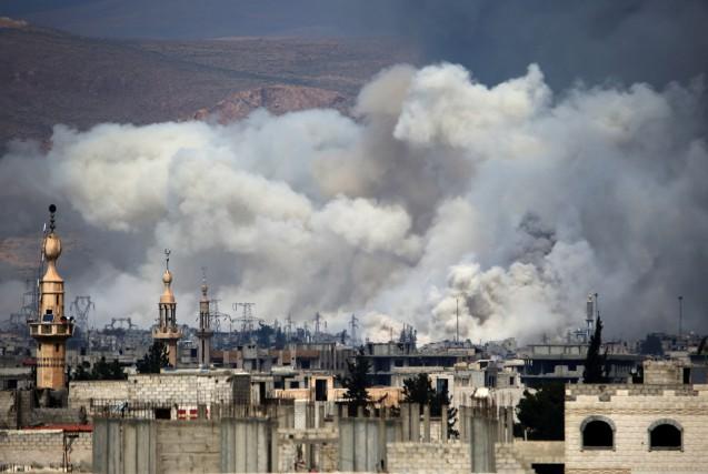 L'OSDH a précisé que l'attaque de Jobar était... (Photo AMER ALMOHIBANY, Archives Agence France-Presse)