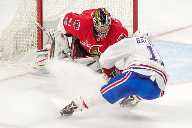 Craig Anderson a frustré Brendan Gallagher en troisième... (Photo Marc DesRosiers, USA TODAY)