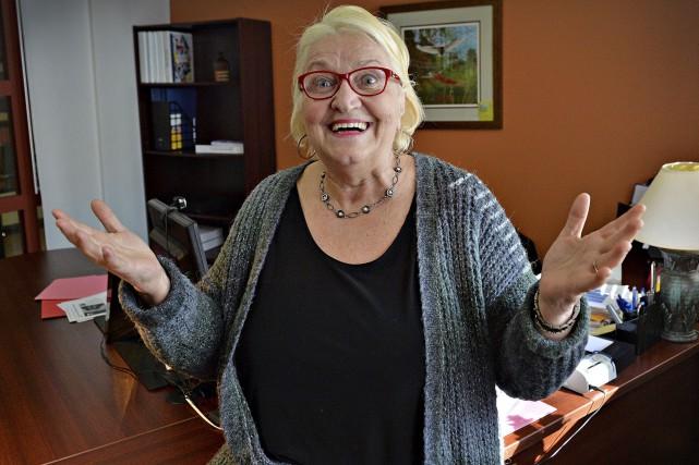 Lyse Lavoie, 70 ans, toujours active et heureuse... (Le Soleil, Patrice Laroche)