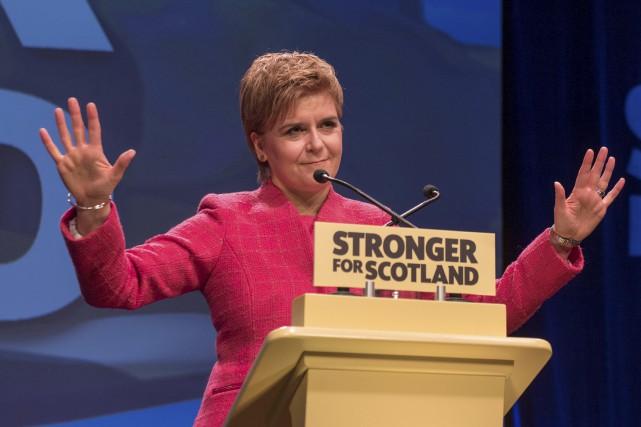 La première ministre de l'Écosse, Nicola Sturgeon, craint... (AFP, Michal Wachucik)