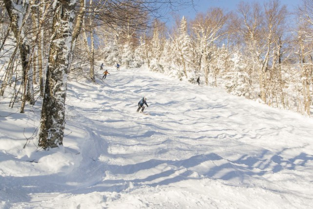 D'excellentes conditions de ski étaient au rendez-vous sur... (tirée de Facebook)