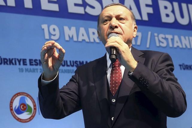 Le président de la Turquie, Recep Tayyip Erdogan,... (AP, Kayhan Ozer)