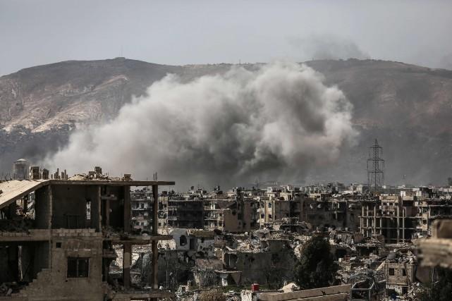 «Les forces gouvernementales et leurs alliés ont repris... (PHOTO AFP)