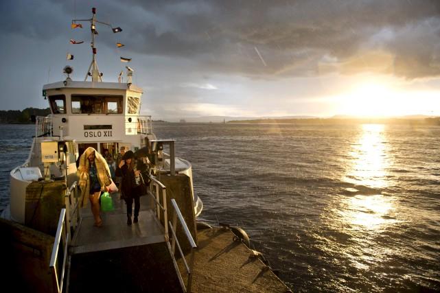 Un ferry se dirige vers Oslo, la capitale... (AFP, Odd Andersen)
