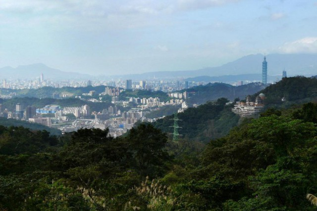 Taipei vu de Maokong... (Photo Béatrice Leproux, collaboration spéciale)
