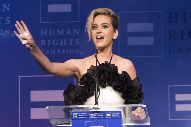 La chanteuse Katy Perry a participé augala annuel... (Photo Valérie Macon, AFP)