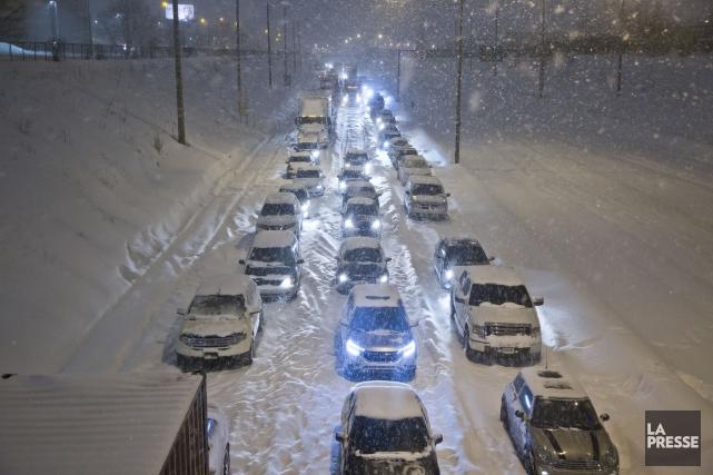 La tempête qui a déferlé sur le Québec... (PHOTO FÉLIX O.J. FOURNIER, collaboration spéciale à La Presse)