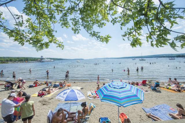 Le développement de la plage des Cantons et de la pointe Merry à Magog sera au... (Spectre Média, Julien Chamberland)
