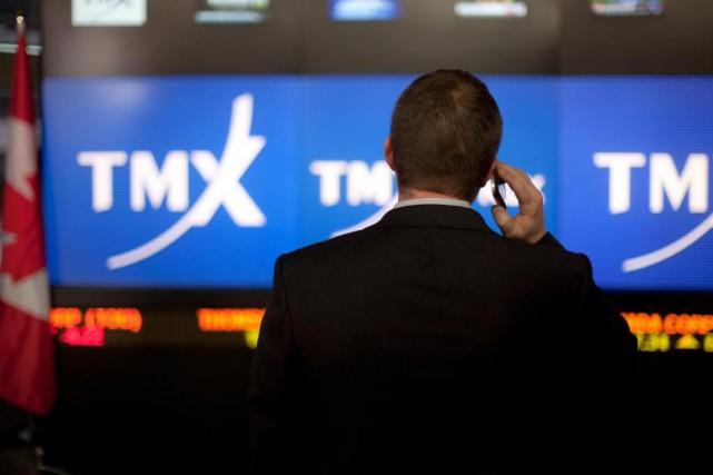 La Bourse de Toronto a clôturé la séance de lundi en baisse, tirée vers le bas... (PHOTO BLOOMBERG)