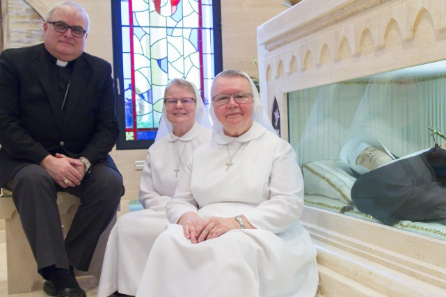 Monseigneur Luc Cyr, archevêque de l'archidiocèse de Sherbrooke... (Spectre Média, Marie-Lou Béland)