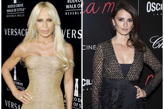 Penélope Cruz (à droite) interprétera Donatella Versace (à... (AP)
