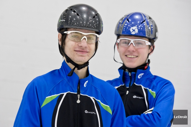 Deux athlètes de Gatineau, Sébastien Piché et Cédrick... (Martin Roy, Le Droit)