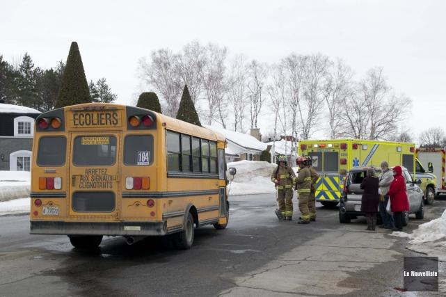 Un autobus scolaire de la Commission scolaire de... (Sylvain Mayer, Le Nouvelliste)