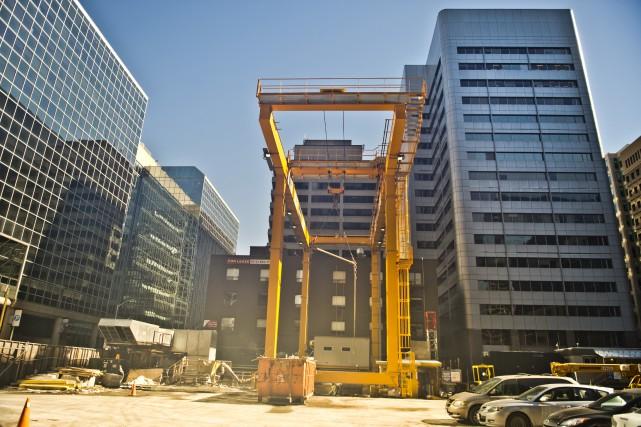 Samedi dernier, un travailleur de la construction a... (Martin Roy, archives Le Droit)