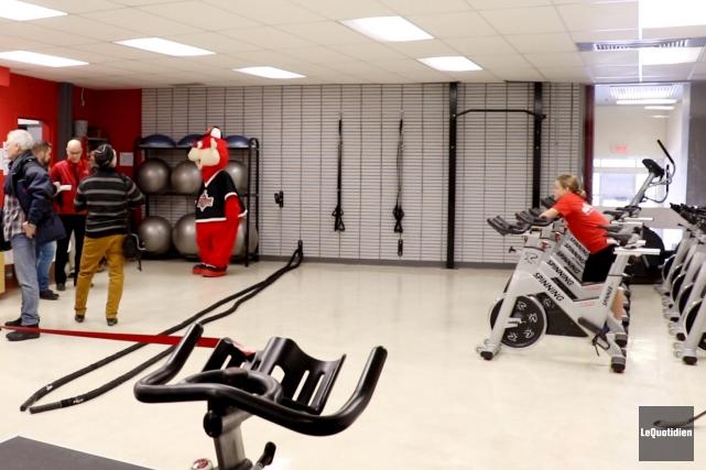 La nouvelle salle de préparation physique du Séminaire... (Photo Le Quotidien, Yohann Gasse)