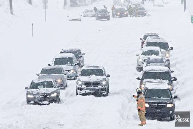 Un tronçon de l'autoroute 520 Est fait désormais... (La Presse, Patrick Sansfaçon)