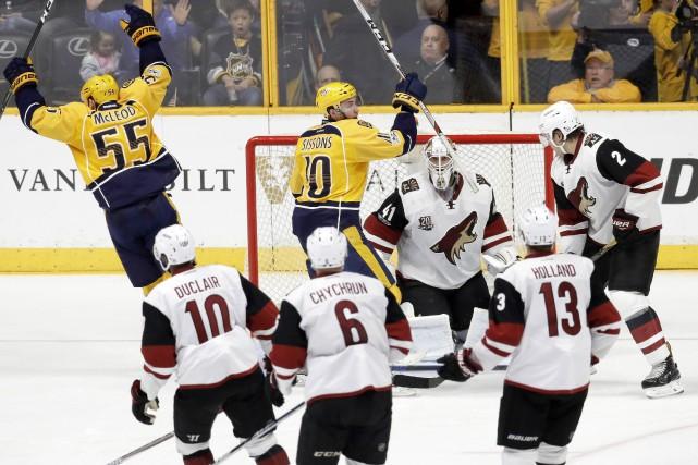 Ryan Ellis a marqué deux fois dans une victoire de 3-1 des Predators de... (PHOTO AP)