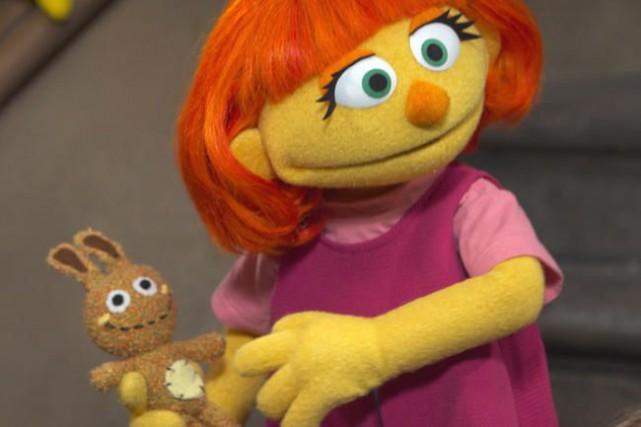 Le nouveau personnage de Sesame Street, Julia, est... (Photo fournie par CBS News)