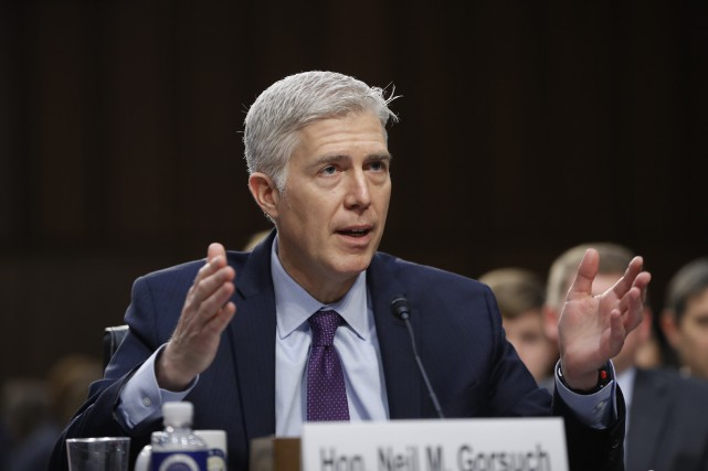 Neil Gorsuch... (PHOTO AP)