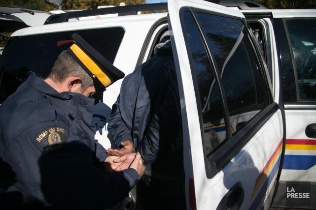 L'augmentation significative des traversées illégales à la frontière... (Archives La Presse)