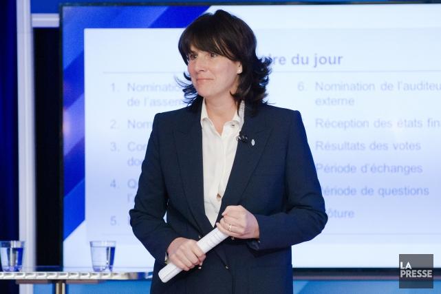 La présidente et chef de la direction de... (La Presse, Ninon Pednault)