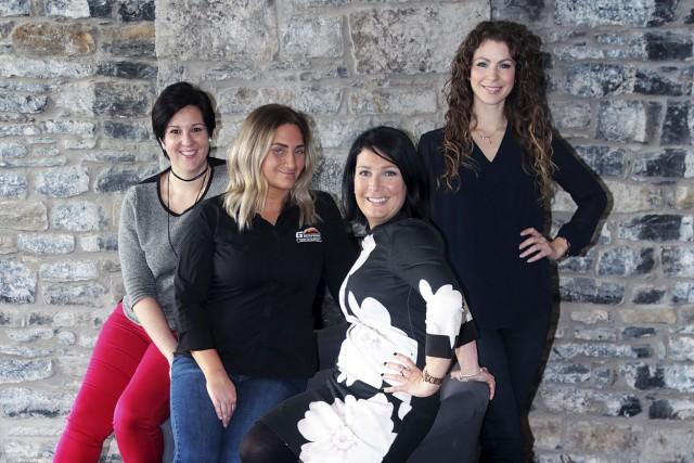 Marie-Josée Bourdon, Stéphanie Gauvreau, Julie Frigon et Valérie... (Etienne Ranger, Le Droit)