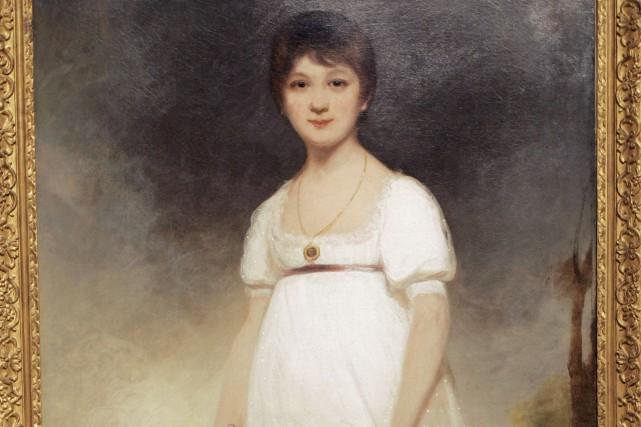 Portrait de l'écrivaine anglaise Jane Austin peint par... (AFP, Stan Honda)
