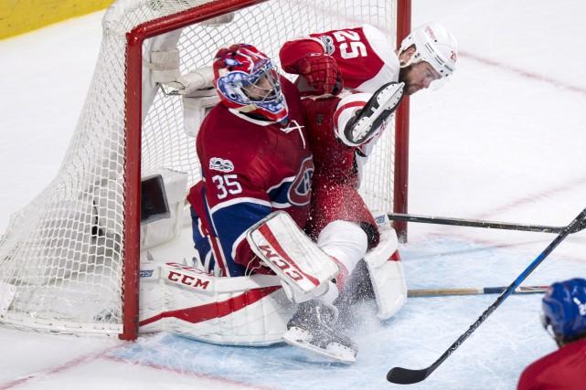 L'arrière des Red Wings de Detroit, Mike Green,... (La Presse canadienne, Paul Chiasson)