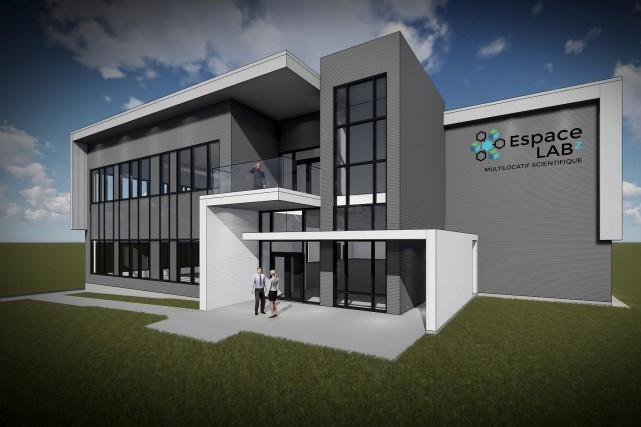 Le centre multilocatif EspaceLabz sera érigé dans le... (Illustration fournie)