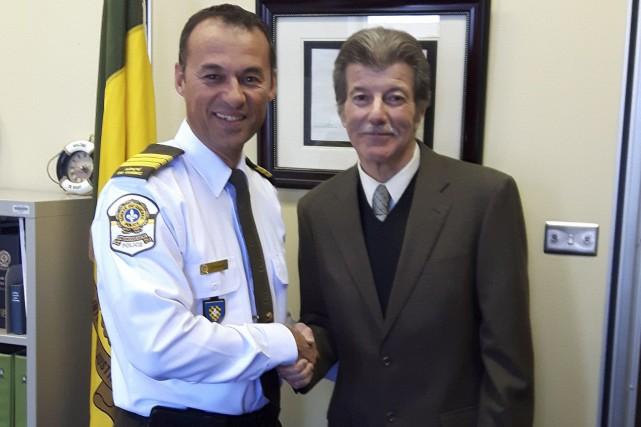 Le commandant du détachement Estrie/Centre-du-Québec de la Sûreté... (Photo fournie par la Sûreté du Québec)
