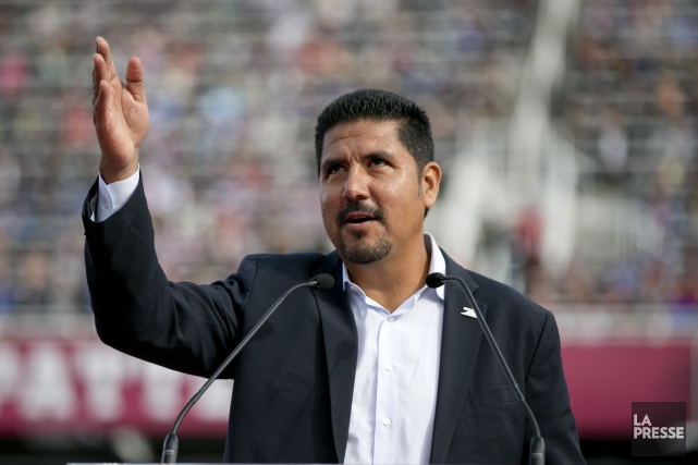 Anthony Calvillo a conduit les Alouettes à trois... (PHOTO DAVID BOILY, LA PRESSE)