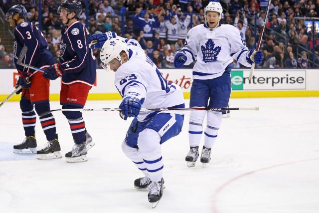 Nazem Kadri a récolté son 30e but de la saison pour aider les Maple Leafs de... (PHOTO REUTERS)