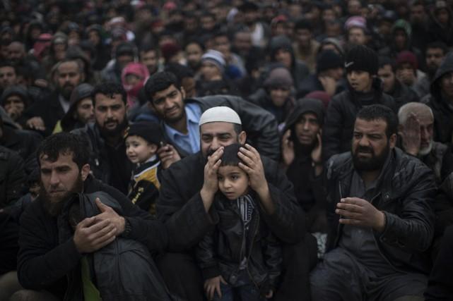 Environ 600 000 personnes se trouvent dans les... (AP)