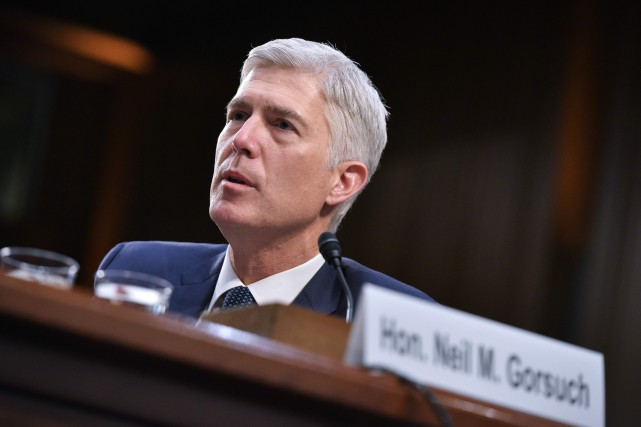 Neil Gorsuch... (PHOTO AFP)